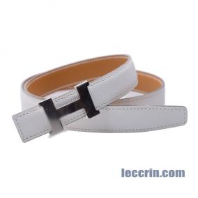 HERMES BELT BLANC/ WHITE/GOLD ( 01/37) LEATHER  SMALL 85CM