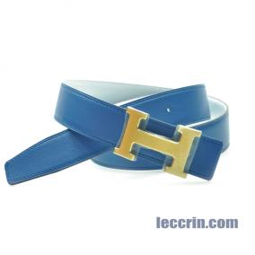HERMES BELT BLUE/WHITE (7Q/01) 85CM BELT7Q01GP85