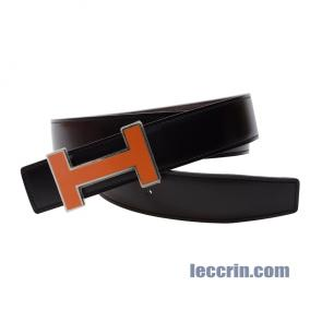 HERMES BELT EBENE/BLACK (46/89) LEATHER 85CM