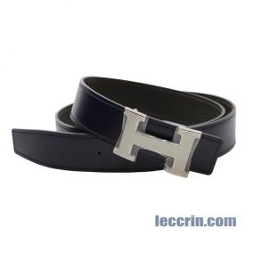 HERMES BELT ETAIN/DARK BLUE (8F/5N) LEATHER SS 95CM