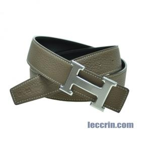 HERMES BELT ETOUPE/BLACK (18/89) SS 85 BELT1889SS85L