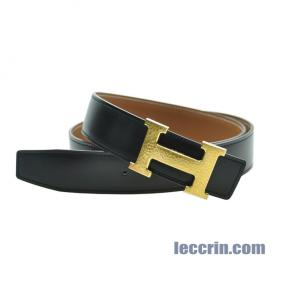 HERMES BELT GOLD/BLACK GP 85CM