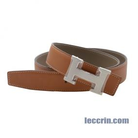 HERMES BELT GOLD/ ETOUPE (37/18) LEATHER  SS 90 CM