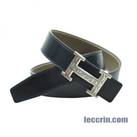 HERMES BELT GREY/BLUE (18/7L) LEATHER SS 80 CM