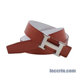HERMES BELT LEATHER WHITE/RED (01/9M) SS 85CM