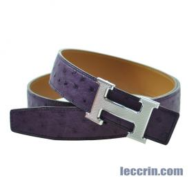 HERMES BELT OSTRICH DARK PURPLE (9G) SS/DOT M 90CM