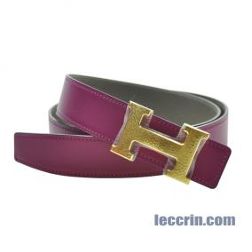 HERMES BELT PINK/GREY (K5/8F) GP 90CM