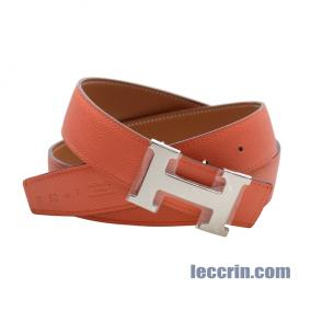 HERMES BELT  RED/GOLD (9J/37) LEATHER SS 90CM