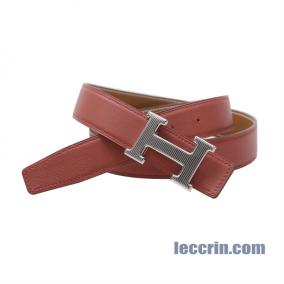 HERMES BELT RED/GOLD (9M/37) LEATHER SS 95CM
