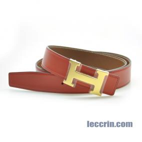 HERMES BELT RED/GOLD (9T/37) GP 95