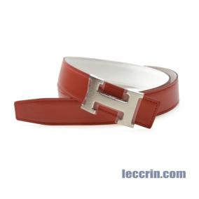 HERMES BELT RED/WHITE (9M/01) LEATHER SS 90CM