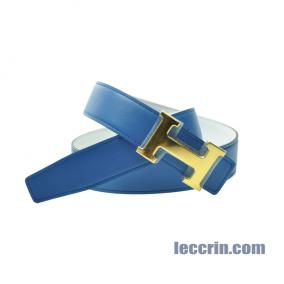 HERMES BELT WHITE/BLUE (01/7Q) GP 85CM
