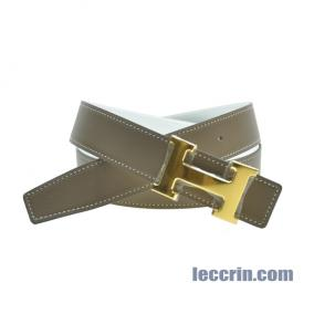 HERMES BELT WHITE/GREY (01/18) GP 95CM