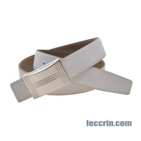 HERMES BELT WHITE/GREY (01/18) LEATHER  NEW BUCKLE 1 SS 95CM