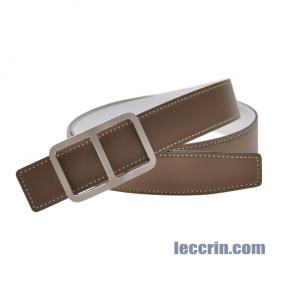 HERMES BELT WHITE/GREY (01/18) LEATHER NEW BUCKLE 2 95CM