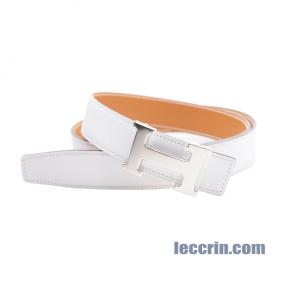 HERMES BELT WHITE/ GOLD (01/37) LEATHER SS 100CM