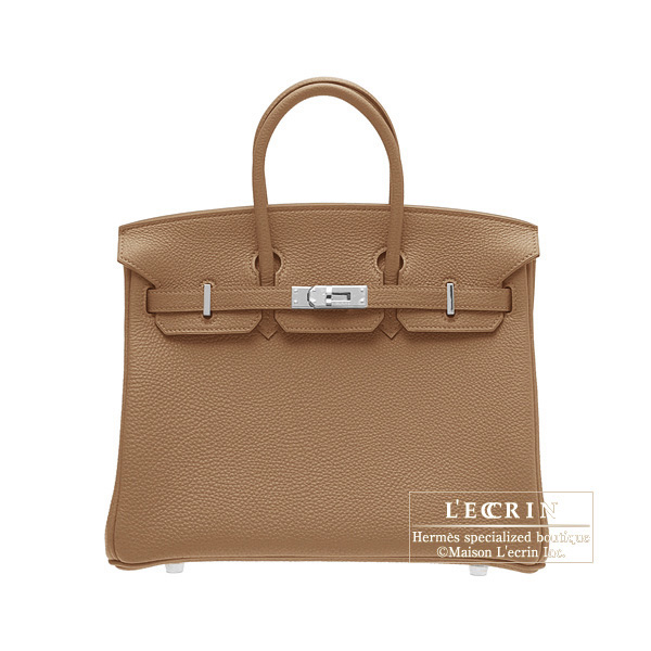 Hermes Birkin bag 25Alezan/Chestnut brown Togo leatherSilver hardware