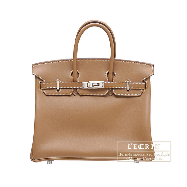 Hermes Birkin bag 25Gold Swift leatherSilver hardware