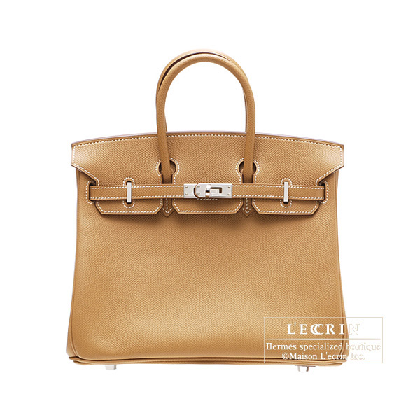 Hermes Birkin bag 25Natural Epsom leather Silver hardware