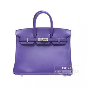 Hermes Birkin bag 25 Crocus/Crocus purple Epsom leather Silver hardware