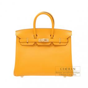 Hermes Birkin bag 25 Jaune d\'or/Yellow gold Epsom leather Gold hardware