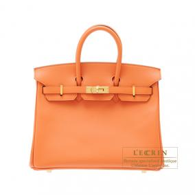 Hermes Birkin bag 25 Mango Epsom leather Gold hardware