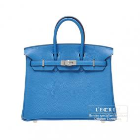 Hermes Birkin bag 25 Mkonos/Mykonos Blue Togo leather Silver hardware