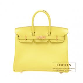Hermes Birkin bag 25 Soufre/Soufre yellow Epsom leather Gold hardware