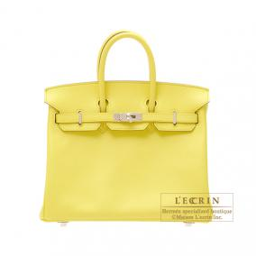 Hermes Birkin bag 25 Soufre/Soufre yellow Epsom leather Silver hardware