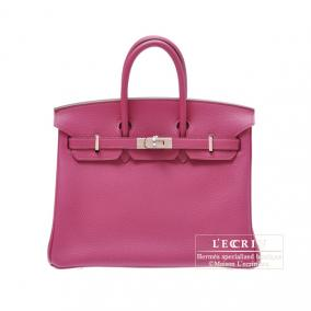 Hermes Birkin bag 25 Tosca Togo leather Silver hardware