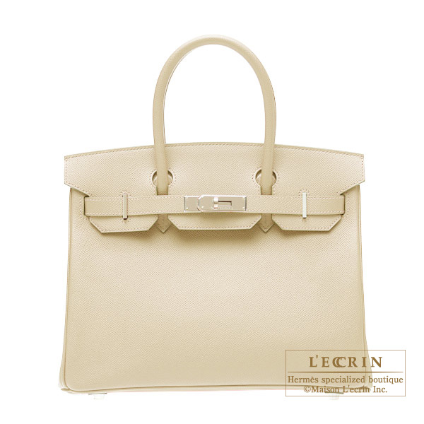 Hermes Birkin bag 30 Parchemin/Parchment beige Epsom leather Silver hardware