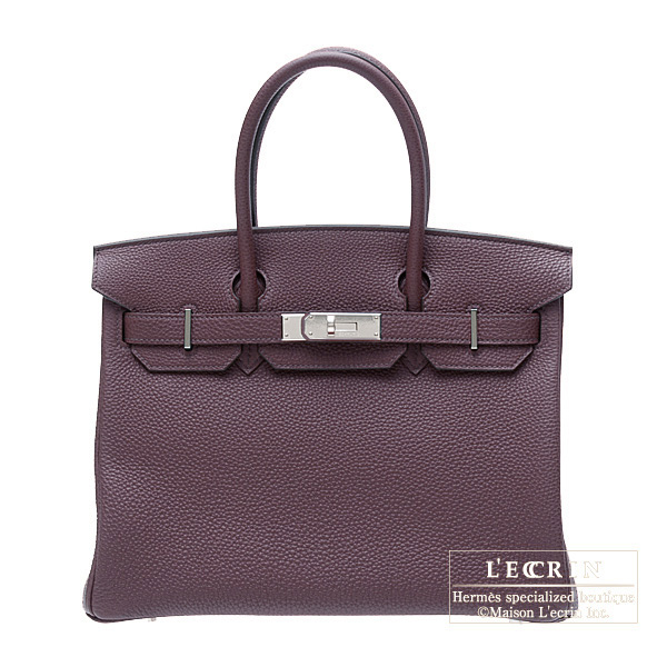 Hermes Birkin bag 30 Raisin/Purple Togo leatherSilver hardware