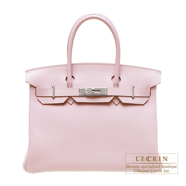 Hermes Birkin bag 30 Rose dragee/Baby pink Swift leather Silver hardware
