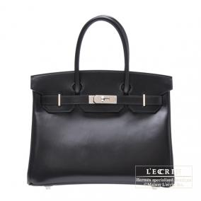 Hermes Birkin bag 30 Black Box calf leather Silver hardware