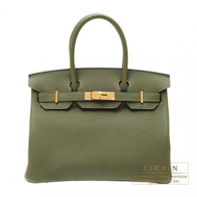 Hermes Birkin bag 30 Canopee/ Canopee Togo leather Gold hardware