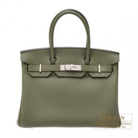 Hermes Birkin bag 30 Canopee/ Canopee Togo leather Silver hardware