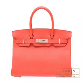Hermes Birkin bag 30 Rose jaipur/Indian pink Epsom leather Silver hardware