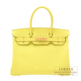 Hermes Birkin bag 30 Soufre/Soufre yellow Epsom leather Gold hardware