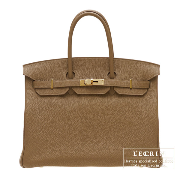 Hermes Birkin bag 35 Alezan/Chestnut brown Togo leather Gold hardware