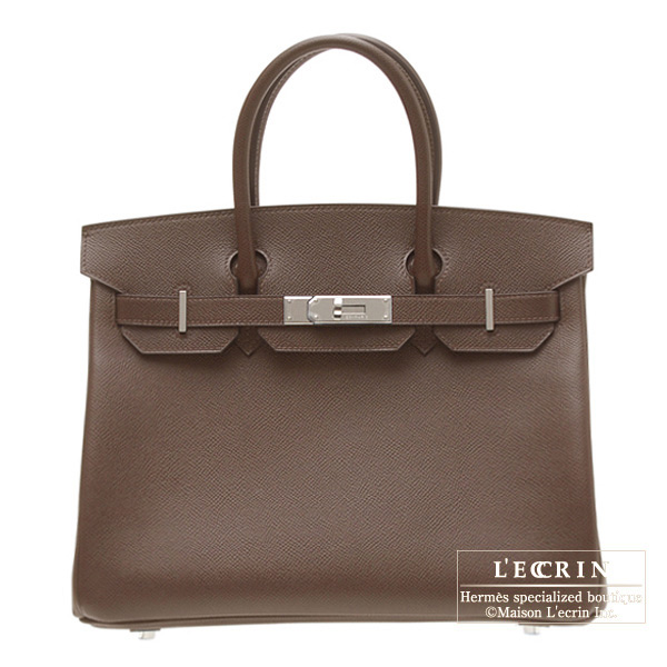 Hermes Birkin bag 35 Chocolat/Chocolate Epsom leather Silver hardware