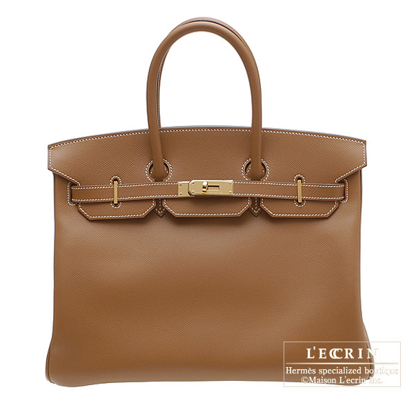 Hermes Birkin bag 35 Gold Epsom leather Gold hardware