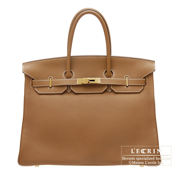 Hermes Birkin bag 35 Gold Togo leather Gold hardware