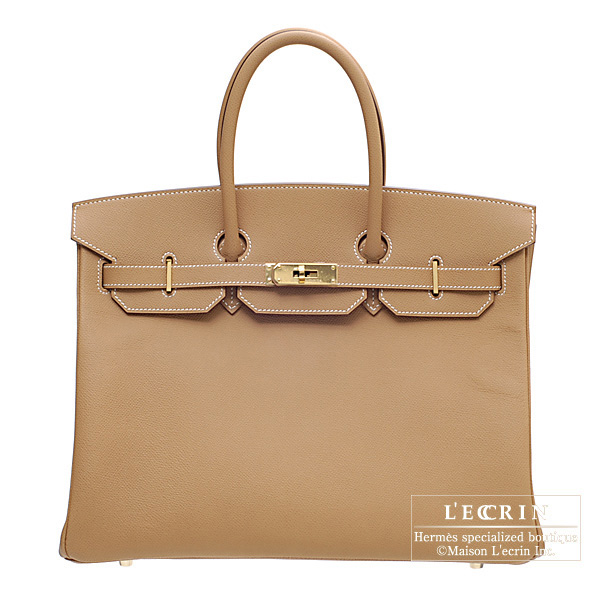 Hermes Birkin bag 35 Natural Epsom leather Gold hardware