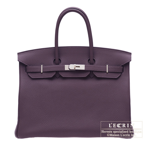 Hermes Birkin bag 35 Raisin/Purple Togo leather Silver hardware