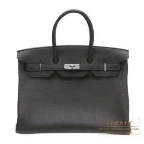 Hermes Birkin bag 35 Black Togo leather Silver hardware