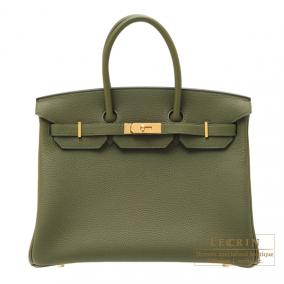 Hermes Birkin bag 35 Canopee/ Canopee Togo leather Gold hardware
