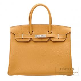 Hermes Birkin bag 35 Natural Togo leather Silver hardware
