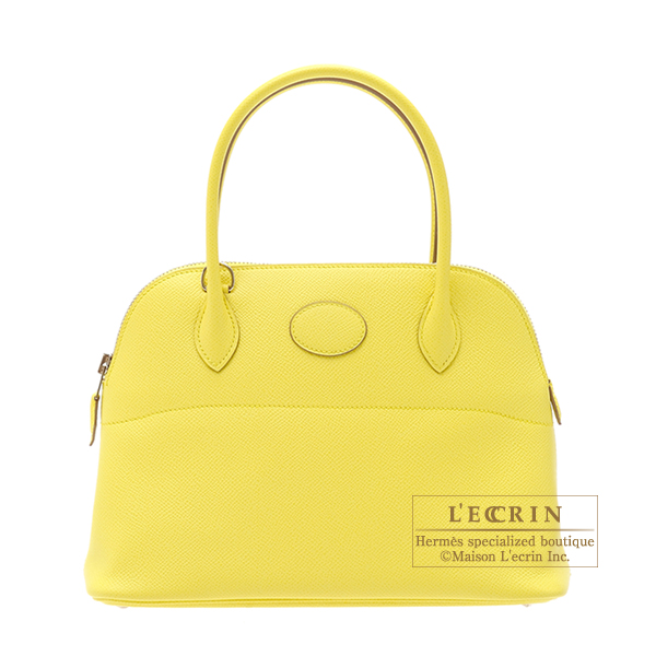 Hermes Bolide bag 27 Soufre/Soufre yellow Epsom leather Silver ...