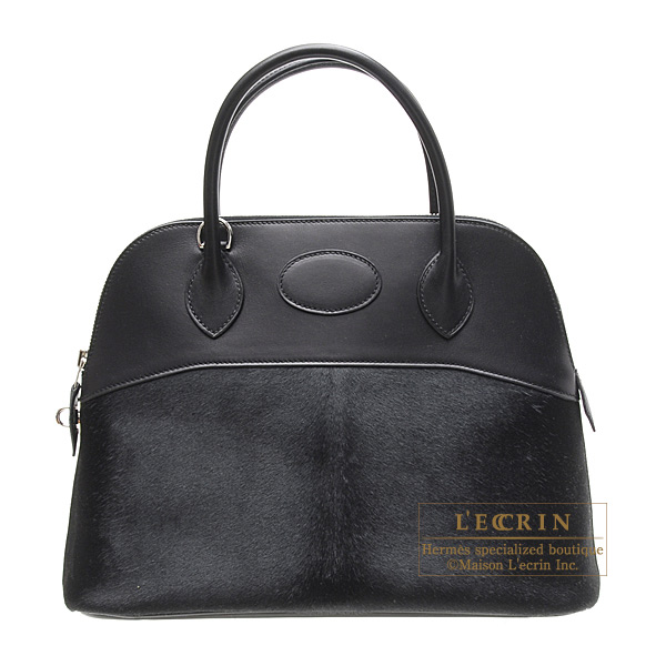 Hermes Bolide bag 31 Black Troika leather with chamonix leather ...