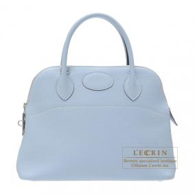 Hermes Bolide bag 31 Bleu lin/Linen blue Clemence leather Silver hardware